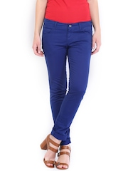 U.S. Polo Assn. Women Blue Super Skinny Fit Trousers