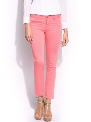 U.S. Polo Assn. Women Pink Super Skinny Fit Trousers