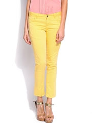 U.S. Polo Assn. Women Yellow Super Skinny Fit Trousers