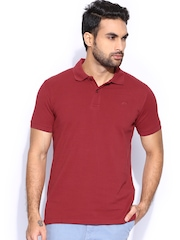 Proline Men Maroon Pique Polo T-shirt