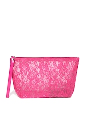 ToniQ Pink Lace Makeup Pouch