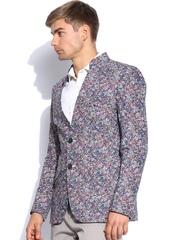Blazer Quarter Men Multicoloured Floral Printed Blazer