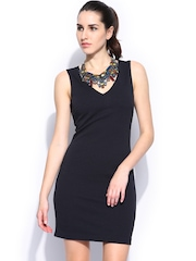 MANGO Navy Sheath Dress