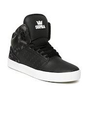 Supra Men Black Leather Atom Casual Shoes