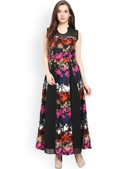 Athena Multicoloured Printed Maxi Dress