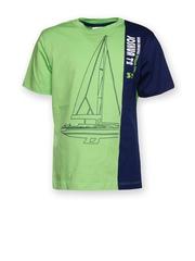 Joshua Tree Urban Traveller Boys Green & Navy Printed T-shirt