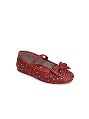 Dora Girls Red Polka Dot Printed Mary Janes