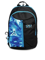 Wiki by Wildcraft Unisex Blue & Black Wiki Spiro Printed Backpack