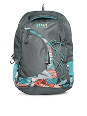 Wiki by Wildcraft Unisex Grey Printed Wiki Eagle Backpack