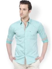Basics Men Green Slim Fit Smart Casual Shirt