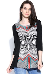 AND by Anita Dongre Women Black & White Printed Top