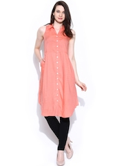 AND by Anita Dongre Peach-Coloured Tunic