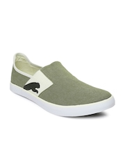 Puma Men Olive Green Lazy Slip-On Casual Shoes