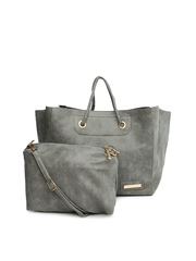 Lino Perros Grey Shoulder Bag