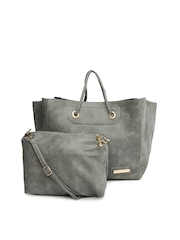 Lino Perros Grey Shoulder Bag