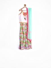 Oriental Bloom by BIBA Girls Multicoloured Lehenga Choli with Dupatta