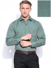 John Players Men Green Slim Fit Formal Shirt