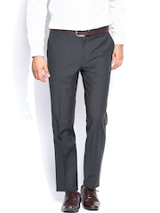 Theme Men Navy Zino Tapered Fit Formal Trousers
