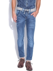 Locomotive Men Blue Jogger Slim Fit Jeans