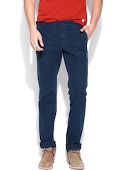 Indian Terrain Men Navy Brooklyn Fit Chino Trousers