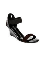 Inc.5 Women Black & Brown Wedges