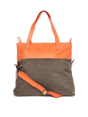 Baggit Brown & Orange Shoulder Bag