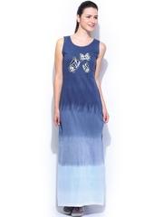 Kook N Keech Disney Blue Tiie & Dye Maxi Dress