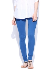 W Women Blue Churidar Leggings
