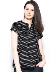W Women Black Printed Top