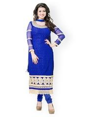 Khushali Blue Georgette Unstitched Dress Material