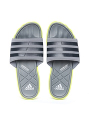 Adidas Men Grey Adipure Slide Flip-Flops