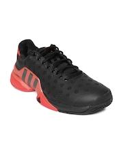 Adidas Men Black & Red Barricade 2015 Tennis Shoes