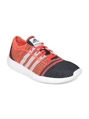 Adidas Men Orange & Black Element Refine Tricot Running Shoes