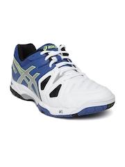 ASICS Men Blue & White Gel-Game 5 Tennis Shoes
