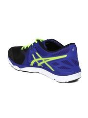 ASICS Men Black & Blue 33-DFA Sports Shoes