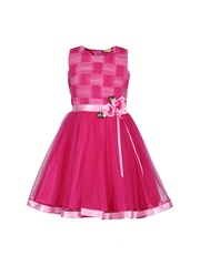 CUTECUMBER Girls Pink Fit & Flare Dress