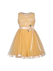 CUTECUMBER Girls Yellow Fit & Flare Dress