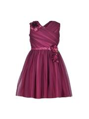 CUTECUMBER Girls Purple Fit & Flare Dress