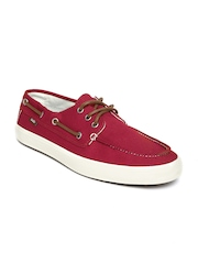 Vans Men Red Boat Shoes