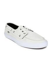 Vans Men Cream-Coloured Boat Shoes