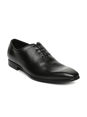 Ruosh Occasion Men Black Leather Oxford Shoes