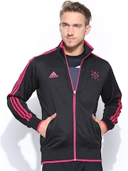 Adidas Men Black Real Track Football Jacket