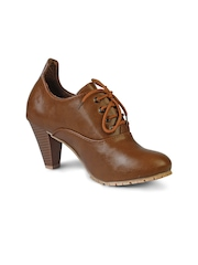 20Dresses Women Brown Heeled Shoes