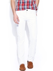 Flying Machine Men White Michael Fit Jeans