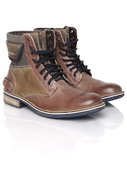 ID Men Brown Leather Boots