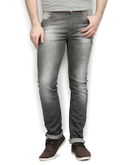Police Men Grey Slim Fit Jeans