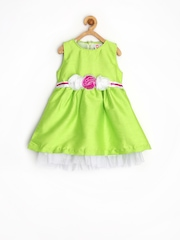 Baby League Infant Girls Green Fit & Flare Dress