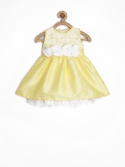 Baby League Infant Girls Yellow Fit & Flare Dress