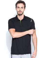 Reebok Men Black SE Poly Training Polo T-shirt