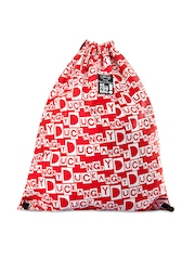Be For Bag Women Red & White Printed Backpack
